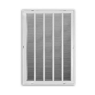 """Truaire 25"""" x 20"""" Return Air Filter Grille White Metal AC HVAC Ceiling Wall Vent"""