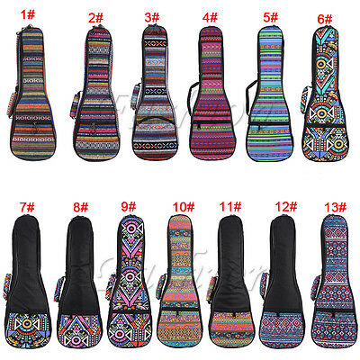 "21"" 23"" 26'' Soft Pad Cotton Folk Style Hand Portable Bag Case Cover for Ukulele"