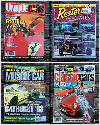 4x Assorted UNIQUE RESTORED MUSCLE & CLASSIC Car Magazines