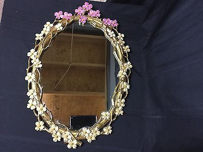 Vintage Ornate Wood Wall Mirror French Provincial Style by Syroco. Exc Cond!