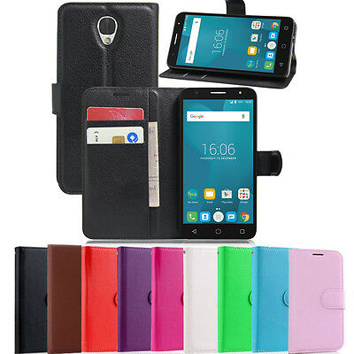 New Wallet Leather Case Cover For Optus X Smart 4G + Screen Protector