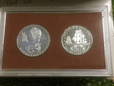 1973 Cook Island Proof Coinage Royal Australian Mint Sterling Silver 2-Coin Set