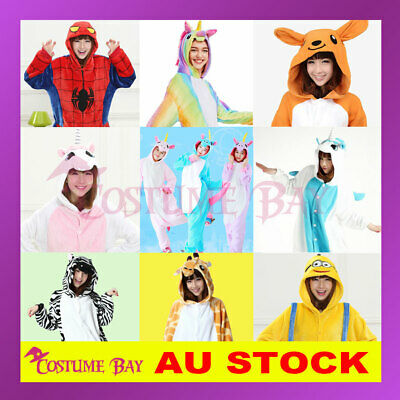 Adult Kids Onsie Pokemon Pikachu Charmandar Unicorn Kigurumi Pajamas Jumpsuit
