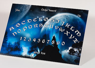 Ouija Witchboard game & Planchette with instruction Ghost Hunt Magick Pagan Wolf
