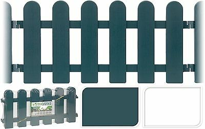 4x55cm Plastic Garden Lawn Grass Edging Picket Border Traditional Panel Fence