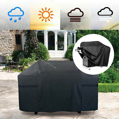 3-Size Hooded BBQ Cover Protector Barbecue Grill Waterproof Outdoor Gas Charcoal
