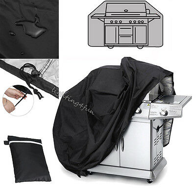 Large 2 Burner Hooded BBQ Cover Protector Barbecue Grill Waterproof Outdoor Yard