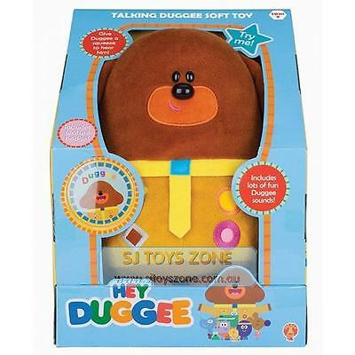 Hey Duggee Talking Duggee Plush Soft Toy Fun Duggee Sounds Badge Included ABC