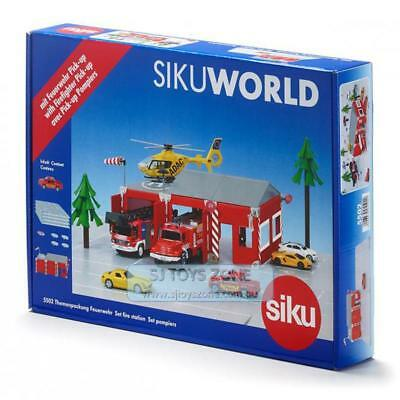 Siku World Creative Learning Diecast Building Toy Fire Station Set