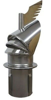 "DRAGON stainless steel chimney cowl roof cap 6"" 8"" for insertion / force-in base"
