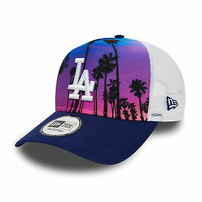 New Era West Coast Print A Frame Trucker LA Dodgers Cap Multi Coloured One Size
