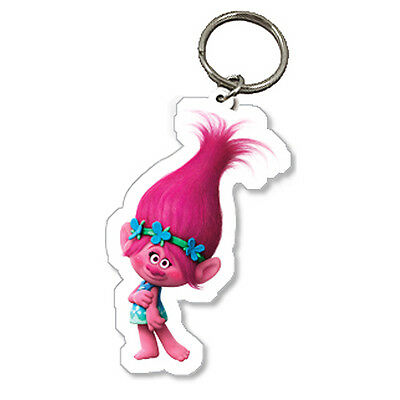 Official Licensed Product Trolls Poppy Keyring Key Chain Fan Fun Cute Gift New