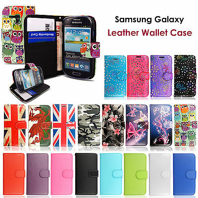 New Luxury Leather Wallet Flip Stand Case Cover For Samsung Galaxy S3 mini i8190