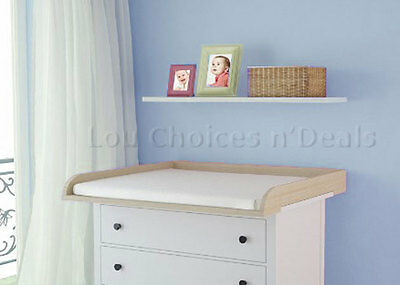 Changing Table Top Beech Baby Nursery Diaper Changer Unit For Chest Commode