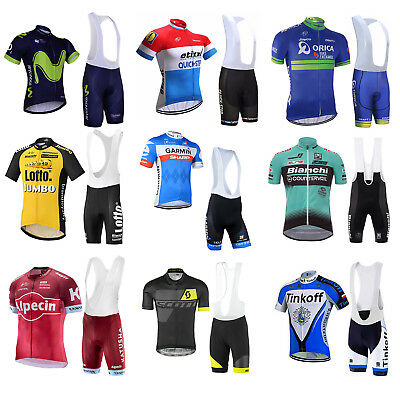 New Sports Team Cycling Bike Bicycle Clothing Jersey Shirts Bib Paded Short Set