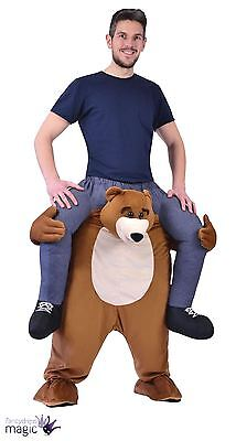 Piggy Back Bear Halloween Mascot Fancy Dress Costume Stag Party Funny Fun Outfit