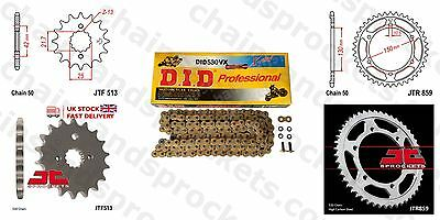 DID X Ring Gold Chain Kit 15/48t 530/110 fit Yamaha FZS600 Fazer (5DM,5RT) 98-03