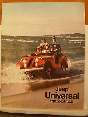 1970 Jeep Universal Dealer Sales Brochure Catalog Options,accessories,body style