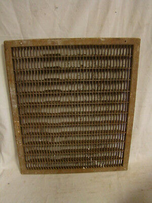 Vintage 1920S Iron Heating Grate Rectangular Design 25.75 X 21.75 A
