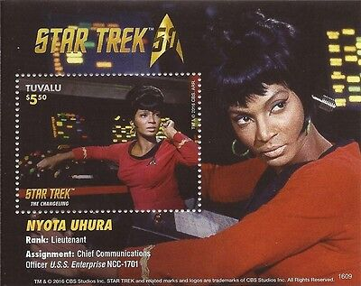 Tuvalu - 2016 Star Trek Uhura - Stamp Souvenir Sheet - 20J-011