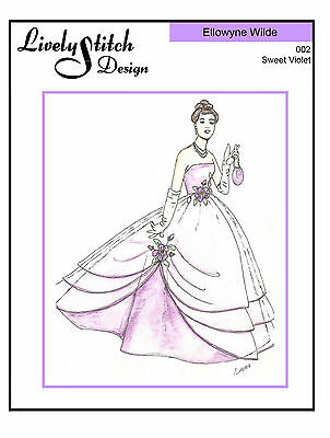 Sweet Violet / sewing pattern for the Ellowyne Wilde doll by Tonner