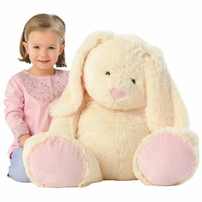 """Animal Alley 22"""" Cream Easter Bunny, Kids Large Cuddly Plush Soft Toy"""