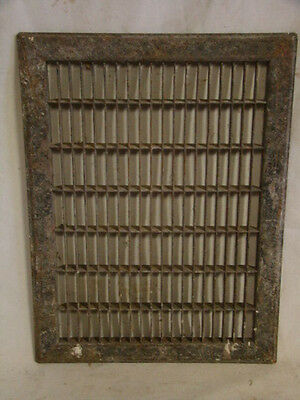 Vintage 1920S Cast Iron Heating Grate Cover Rectangular 15.75 X 11.75