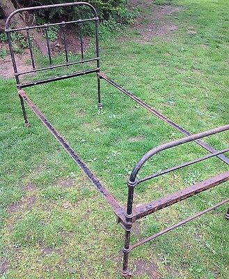 Victorian Cast Iron Sngle Bed Frame