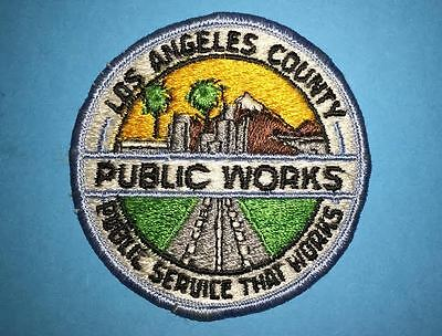Los Angeles County Public Works California Iron On Hat Jacket Travel Patch Crest