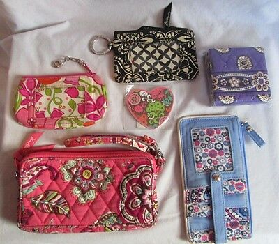 Lot of 6 Vera Bradley Woman's Accessories-New & Used-Mixed Patterns