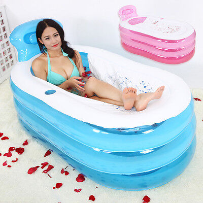 Hot Inflatable Bathtub Portable Adult SPA Bathing Tub Foldable Bath Supplies