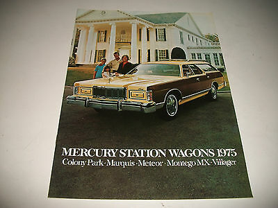 1975 Mercury Station Wagons Sales Brochure Colony Park Marquis Meteor Montego