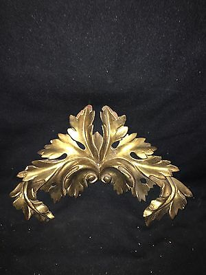"1880's 13"" Carved Wood Gold Gilded Pediment"