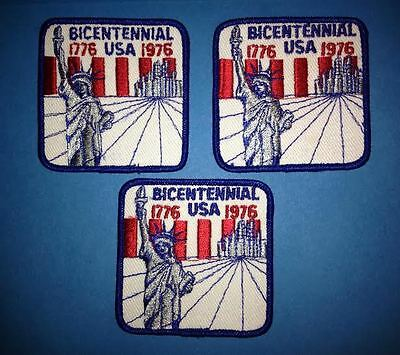 3 Lot Rare Vintage 1776 1976 American Bicentennial Collectable Sew On Patches A