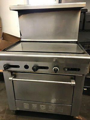 "36""  US Range / Garland flat top griddle with oven"