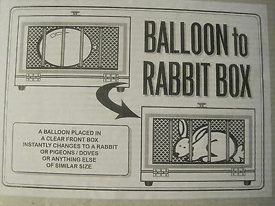++=  Balloon To Rabbit Box magic trick