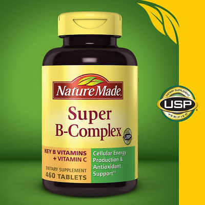 Nature Made Super B-Complex 460 Tablets with Vitamin C and Folic Acid, 2020
