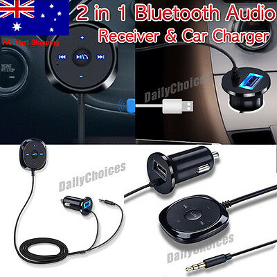 Bluetooth Car Kit Stereo Music Receiver MP3 Player Hands-free 3.5mm Aux Input