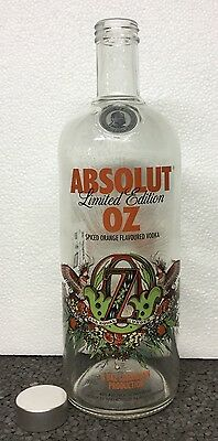 Empty Absolut Vodka Oz Australia 1 Liter Collector Bottle