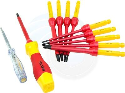 12pcs 1000V Insulated Shielded Changeable Phillips Slotted Screwdriver