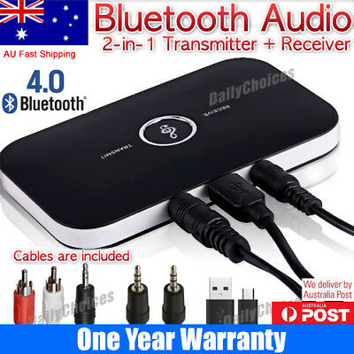 HIFI Wireless Bluetooth Audio Transmitter&Receiver 3.5MM RCA Music 2 in1 Adapter