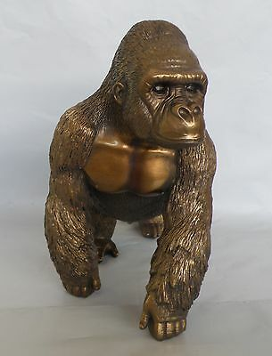 Large Bronze Gorilla Figurine/Statue/Ornament * NEW *  24 cm