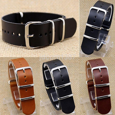 Economic Multi-sizes Leather Wrist Watch Band Strap Stainless Steel Pin Buckle