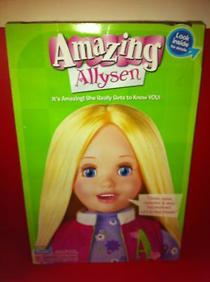 """2006 Playmate Amazing Allysen Interactive 20"""" tall Doll"""