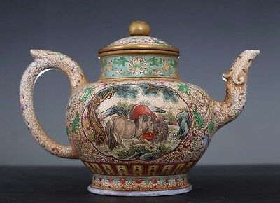 Rare Chinese 18th C Antique ZiSha Pottery Teapot Marked YongZheng Period PT101