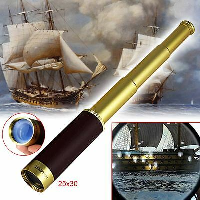 25x30Pirate Zoom Mini Portable Glimmer Monocular Telescope For Camping Hunt