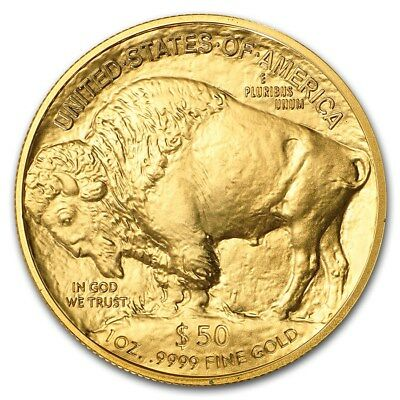 1 oz Gold Büffel - Buffalo - 50 Dollar USA 2019 Goldmünze 999,9 Stempelglanz