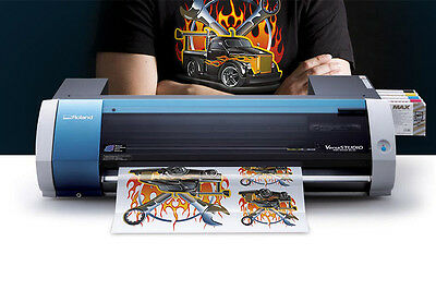 Roland Print And Cut Bn20 Versastudio Any T-Shirts Garment Printer Vinyl Cutter