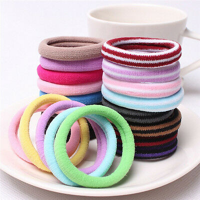 10pcs Women Elastic Hair Ties Band Ropes Ring Ponytail Holder Accessories OV5