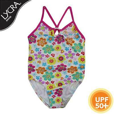 New Girls Toddlers Swim suit, bathers One Piece Floral 50+ UPF, Sizes 0,1,2,3